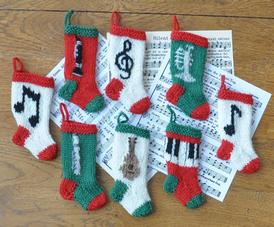 Musical Christmas Stocking Ornaments