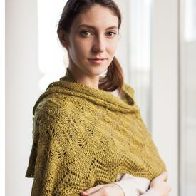 Fir Cone and Lace Shawl
