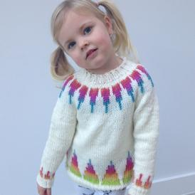 Rainbow Spikes Children's Sweater