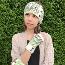 Everett Mosaic Mitts and Headband