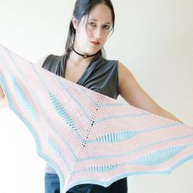 Cotton Candy Swirl Shawl
