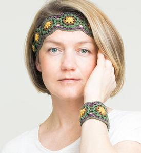 Midsummer Headband and Bracelet