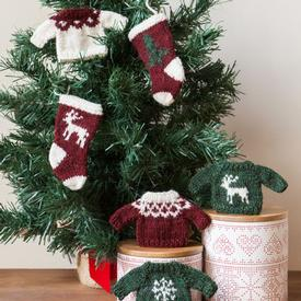Holiday Sweater and Stocking Ornaments