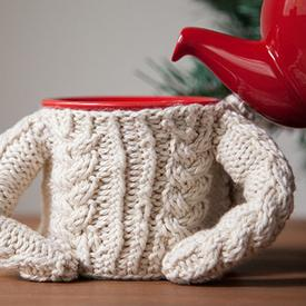 Cable Sweater for Coffee Mug