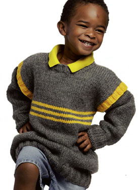 Racing Stripes Sweater Pattern