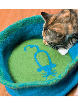 Felted Cat Bed Pattern - Knitting Patterns and Crochet ...