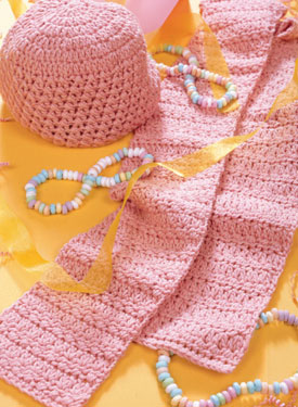 Pretty in Pink Hat & Scarf Pattern