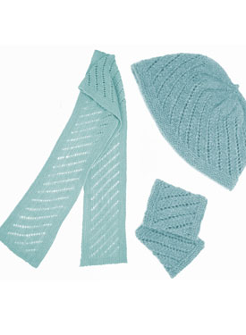 Fish Trap Hat- Wrist Warmers & Scarf Pattern