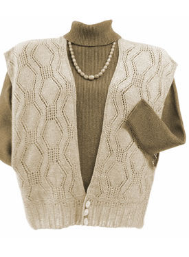 Grass-Basket Cropped Ruana Vest Pattern