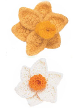 Daffodil & Narcissuc Crocheted Flower Pattern