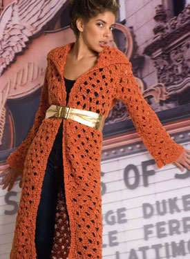 Erykah Crocheted Coat Pattern