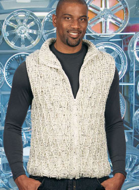 Zip-It Cabled Crocheted Vest Pattern