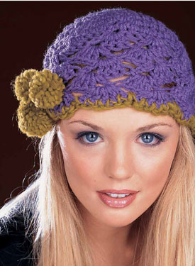 Angeled Shell Pompom Hat Pattern