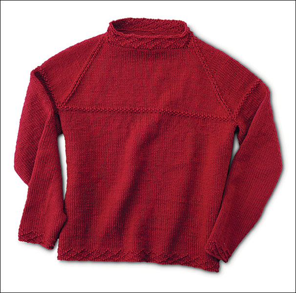 Knitting Pattern For Seamless Sweater : Circular Seamless Raglan Sweater Pattern - Knitting ...