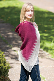 Tonal Triangular Shawl Pattern