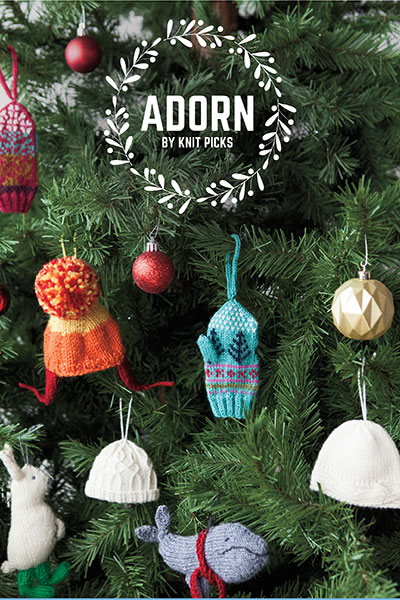 Adorn Pattern Collection: Knit Holiday Ornaments