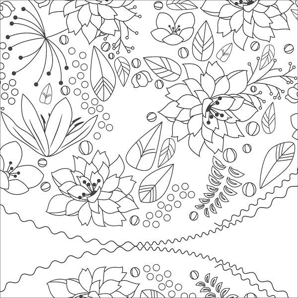 Zen Coloring: Flowers from KnitPicks.com