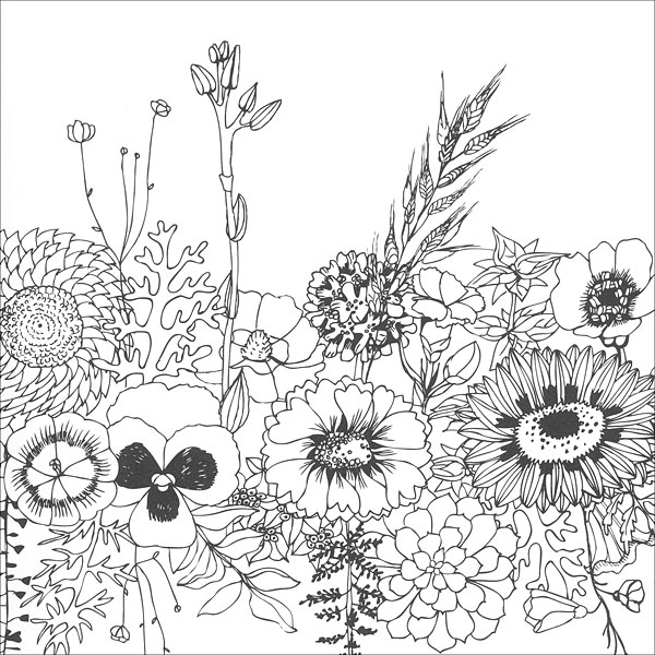 clearance coloring pages   Zen Coloring: Flowers from KnitPicks.com Knitting by Guild ...