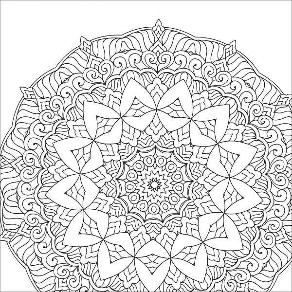 color rama type coloring pages | Zen Coloring: Mandalas from KnitPicks.com Knitting by ...