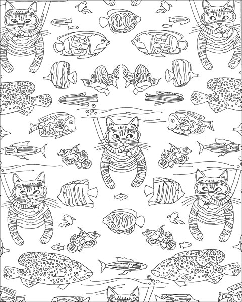 clearance coloring pages   Wonderful Whimsical Coloring from KnitPicks.com Knitting ...