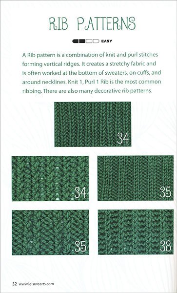 Loom Knit Stitch Dictionary From Knitpicks Knitting By Kathy Norris