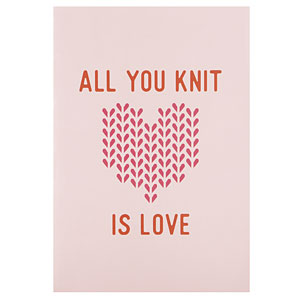 All You Knit is Love Knitting Journal