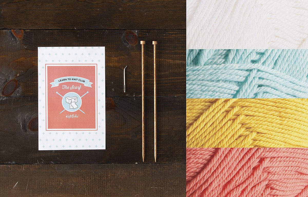 Learn to Knit Club: The Scarf Kit