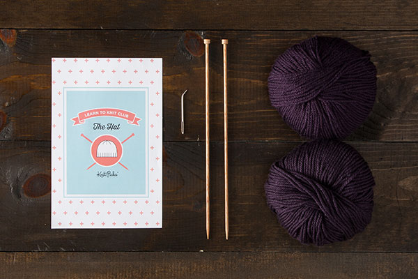Learn to Knit Club: The Hat Kit - Purple