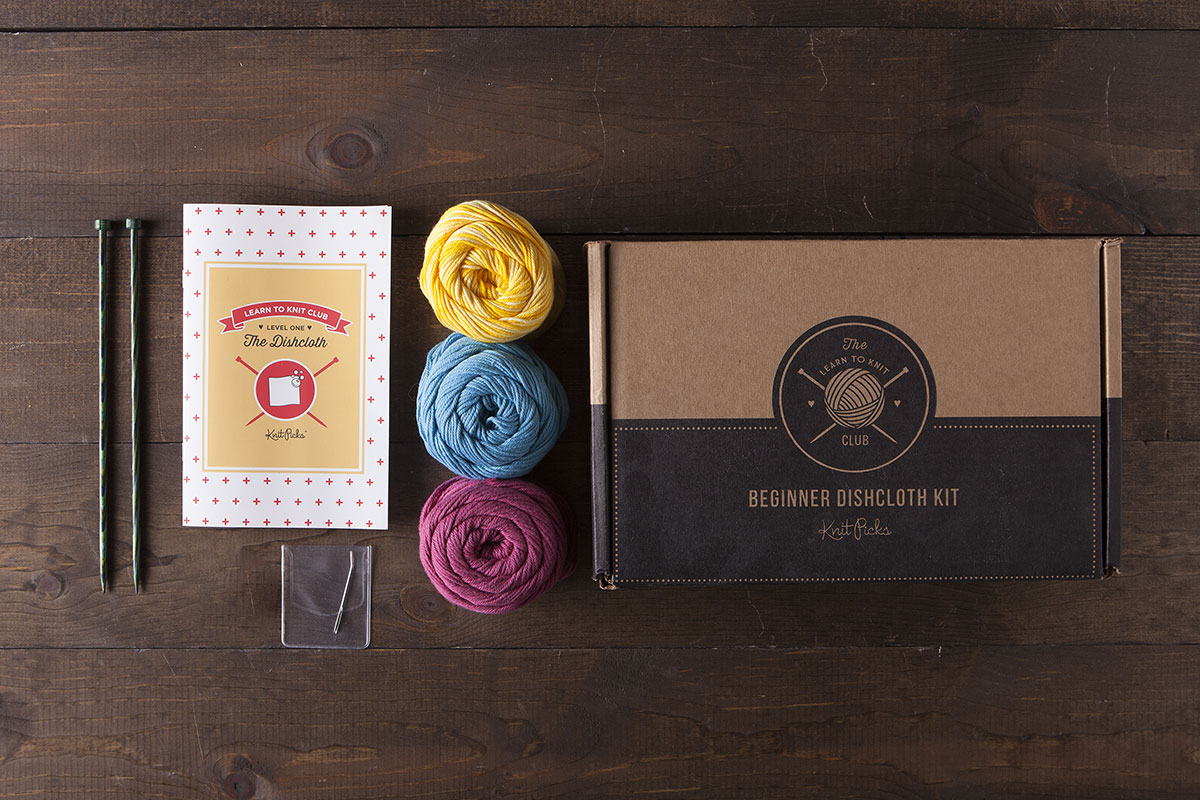 Learn to Knit Club: The Dishcloth Kit - Bloom
