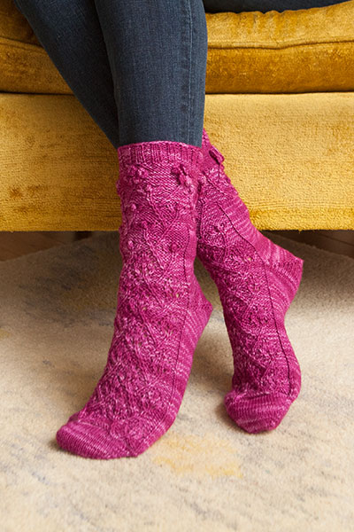 Rose of Sharon Sock Pattern