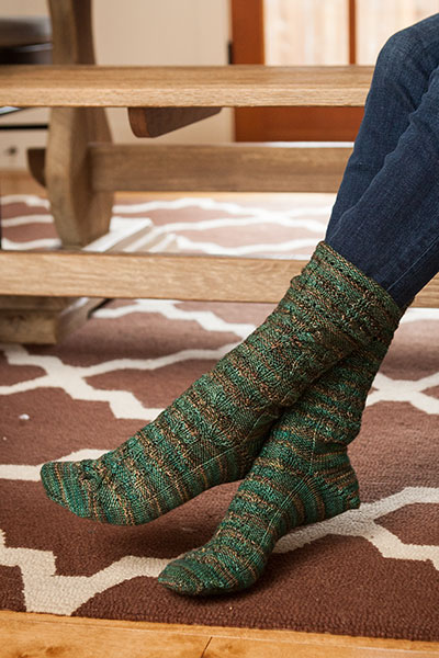 Falling Leaves Sock Pattern