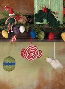 Tidings of Joy Holiday Ornaments Pattern