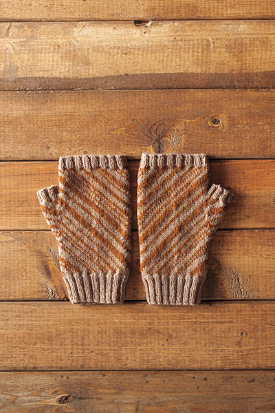 Candy Stripes Fingerless Mitts