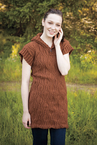 Falling Leaves Sweater Dress Pattern