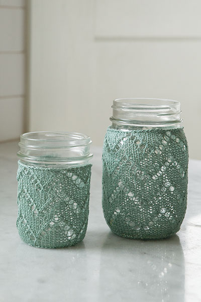 Chevron Mason Jar Cozy