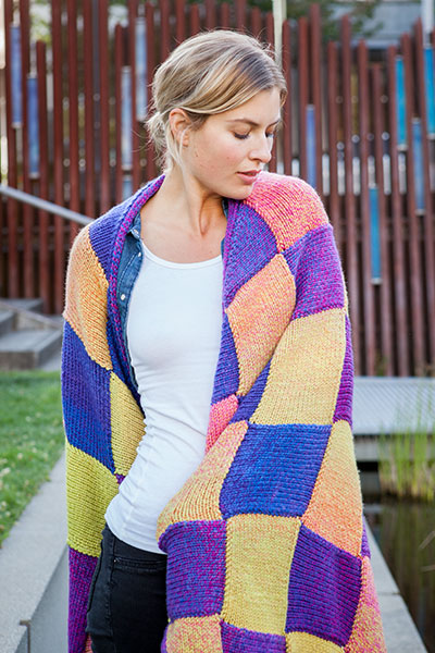 Motley Entrelac Blanket Knitting Patterns And Crochet Patterns