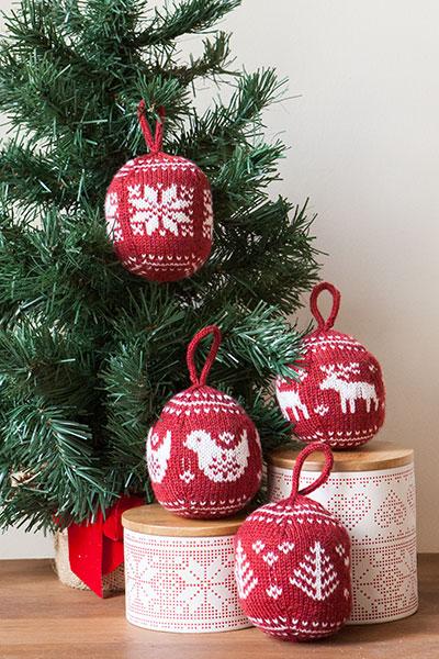 Festive Fair Isle Ornaments Knitting Patterns And Crochet Patterns