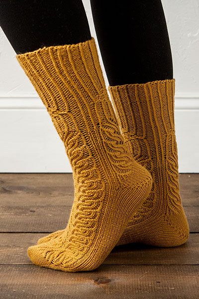 Twisted Rib Cablemania Socks