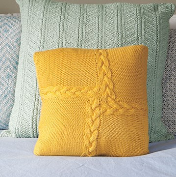 Braided Pinwheel Pillow