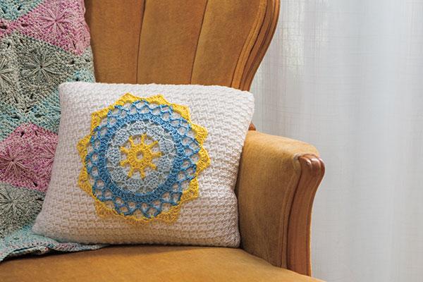 Mandala Pillow Knitting Patterns And Crochet Patterns From