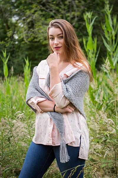 Two Texture Shawl