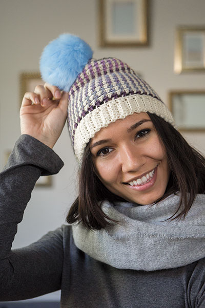 Pom-Pom Hat - Knitting Patterns and Crochet Patterns from KnitPicks ... 1491d96a609