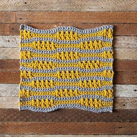Ebb + Flow Crochet Dishcloth