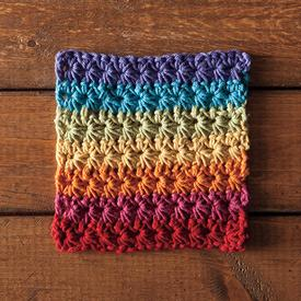 Fruity Loops Crochet Dishcloth