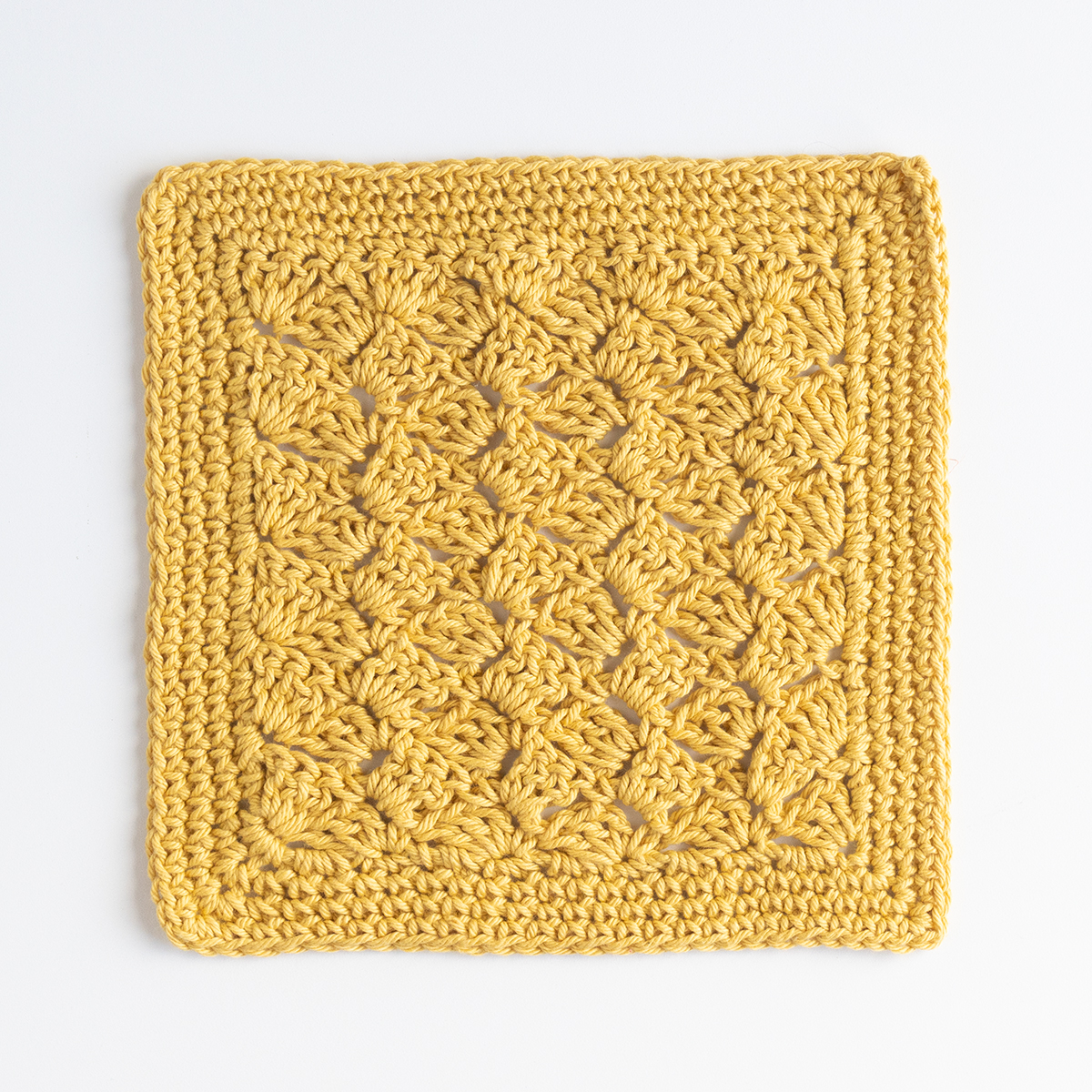 Custard Pie Crochet Dishcloth