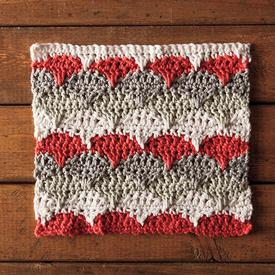Marguerite Crochet Dishcloth