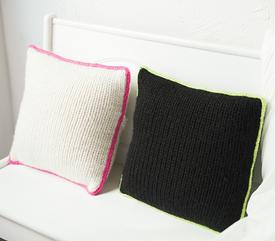 Neon Trim Pillow