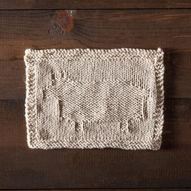 Happy Sheep Dishcloth