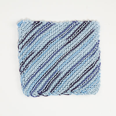 Summer Lines Dishcloth