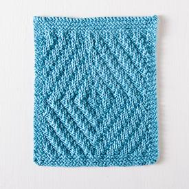 Rippling Diamonds Dishcloth